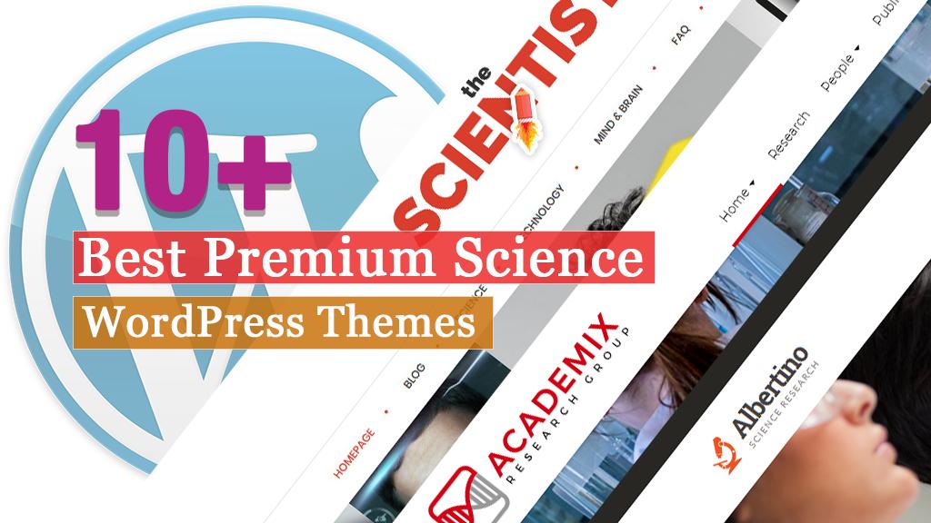 Los mejores temas premium de WordPress para ciencia