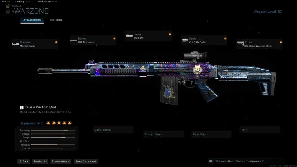 Mejor equipamiento para FAL en Call of Duty Warzone