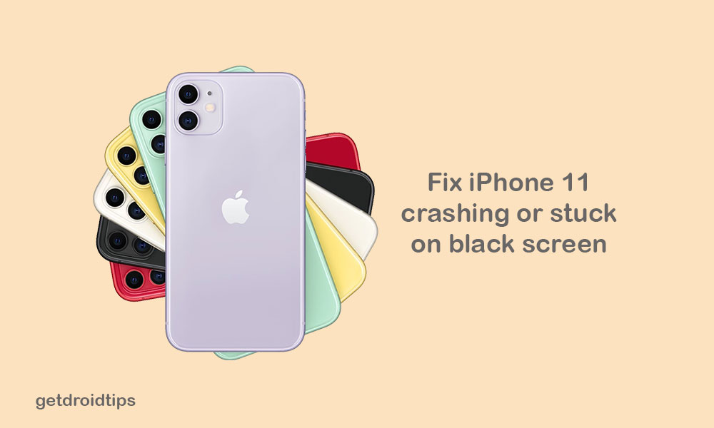 My iPhone 11 randomly crashing and gets stuck on black screen, How to fix?