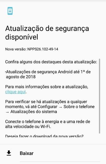 Moto G5S recibe parches de seguridad de agosto de 2018