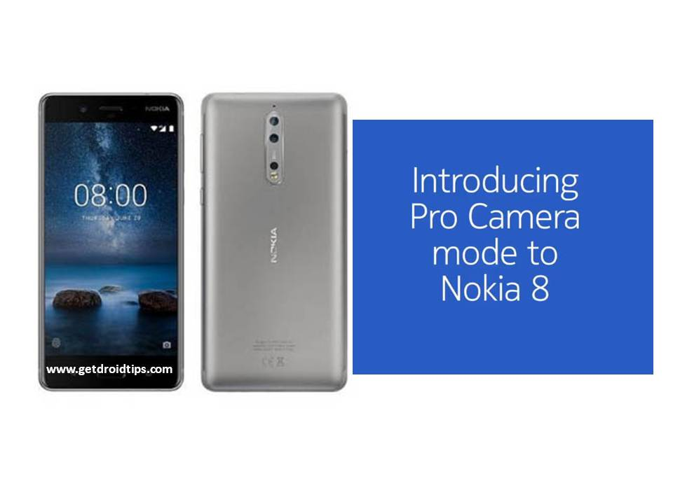 Nokia 8 Camera Pro Update V4.88B ahora está rodando