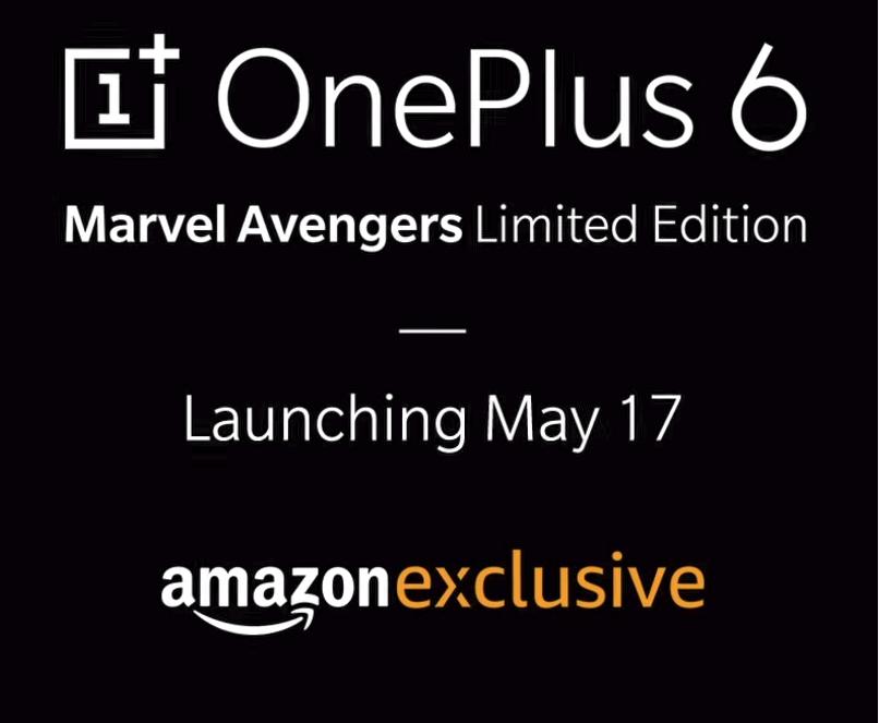 Edición limitada de OnePlus 6 Avengers