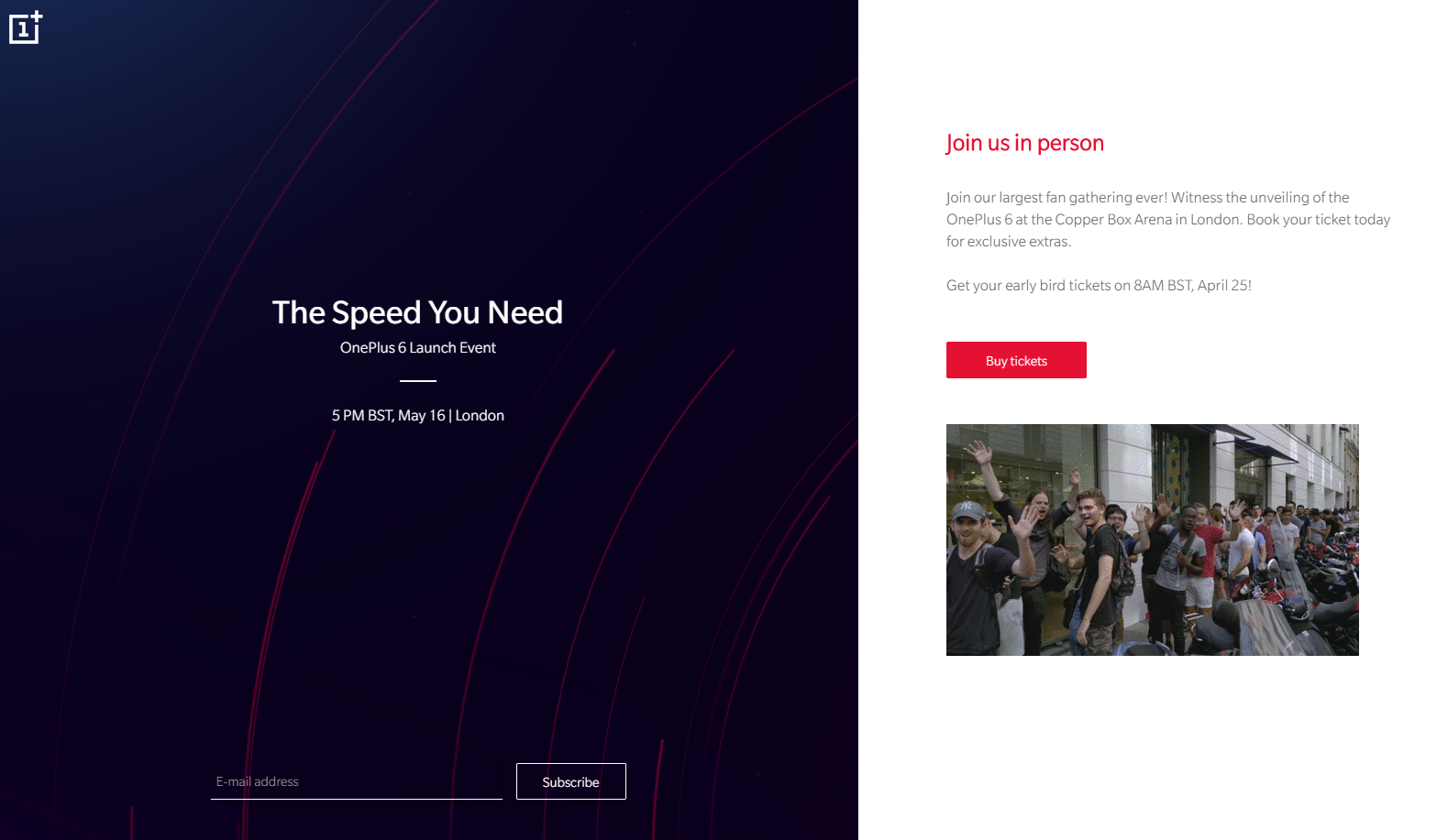 Evento OnePlus 6 en Londres