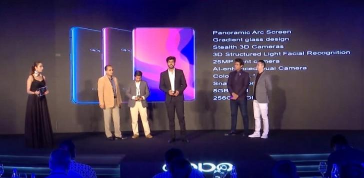 Evento de lanzamiento de Oppo Find X en India