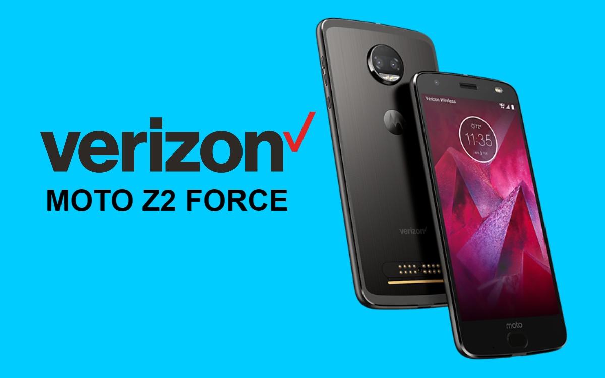 PCX29.159-21: Lanzamiento de Verizon Moto Z2 Force Android 9.0 Pie