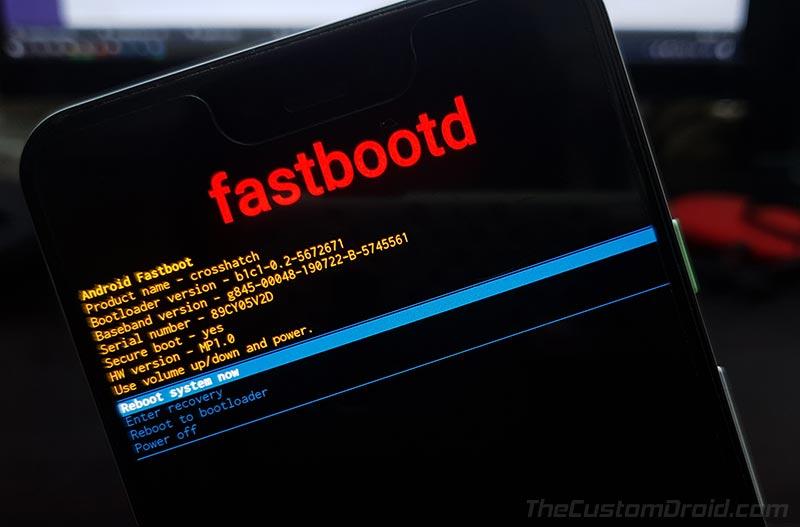 Google Pixel Android 10 Q fastbootd: modo de inicio rápido especial