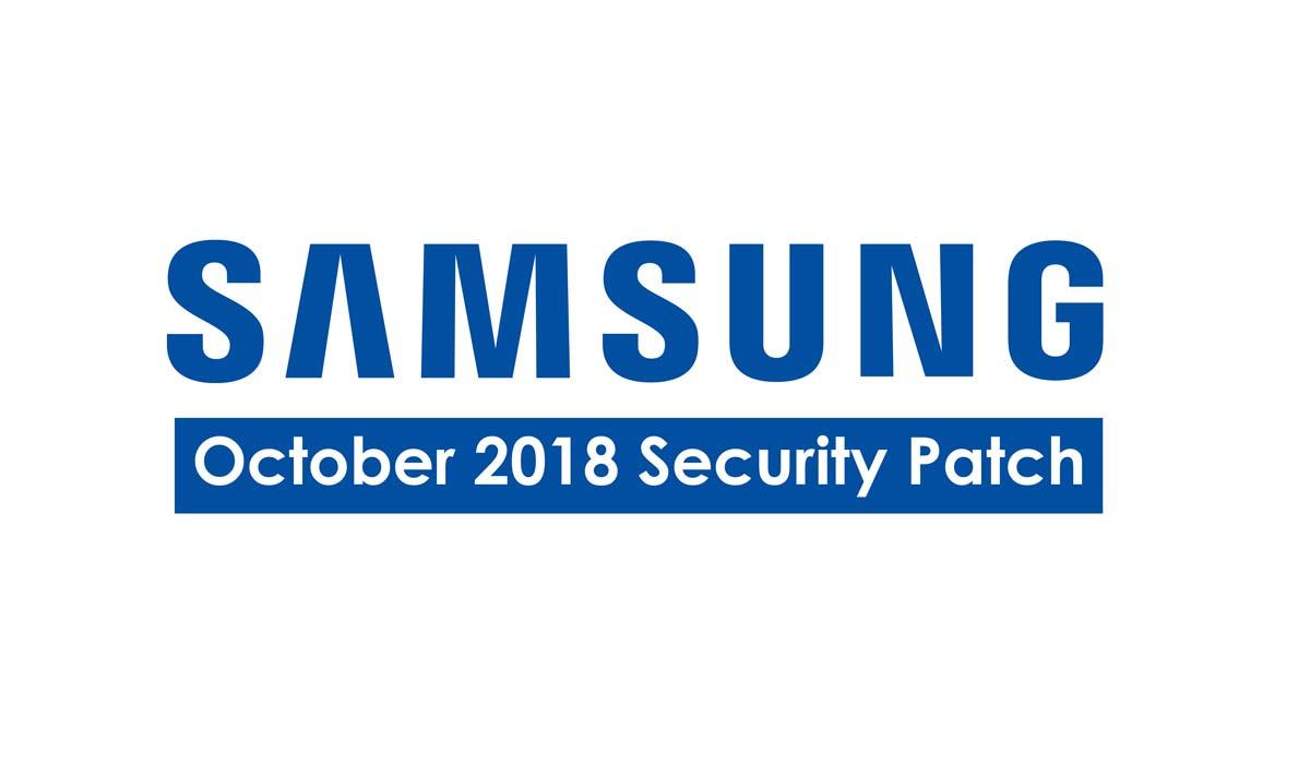 Parche de seguridad de octubre de 2018 para dispositivos Samsung: detalles completos