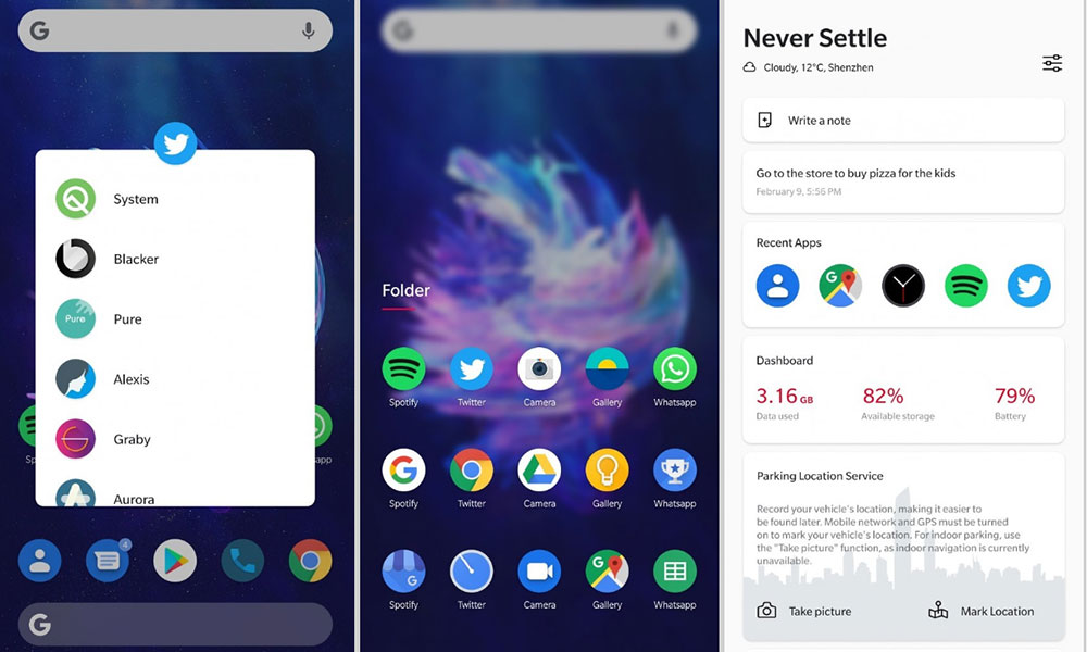 First Look: OxygenOS 10 based on Android Q [Screenshot]