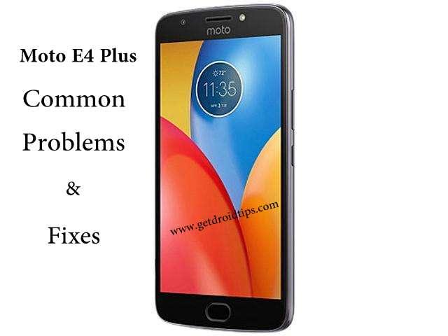 Problemas y soluciones comunes de Moto E4 Plus