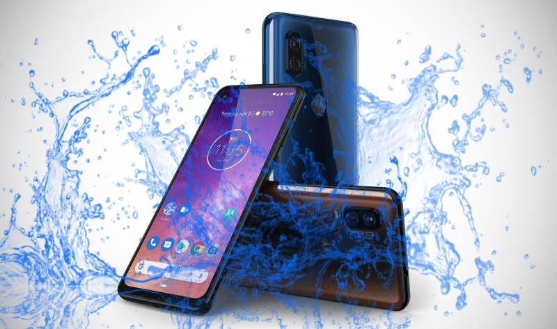 Motorola One Vision Waterproof and Dustproof test