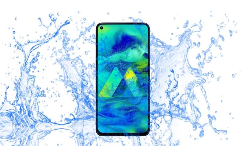 Samsung Galaxy M40 Waterproof and Dustproof test