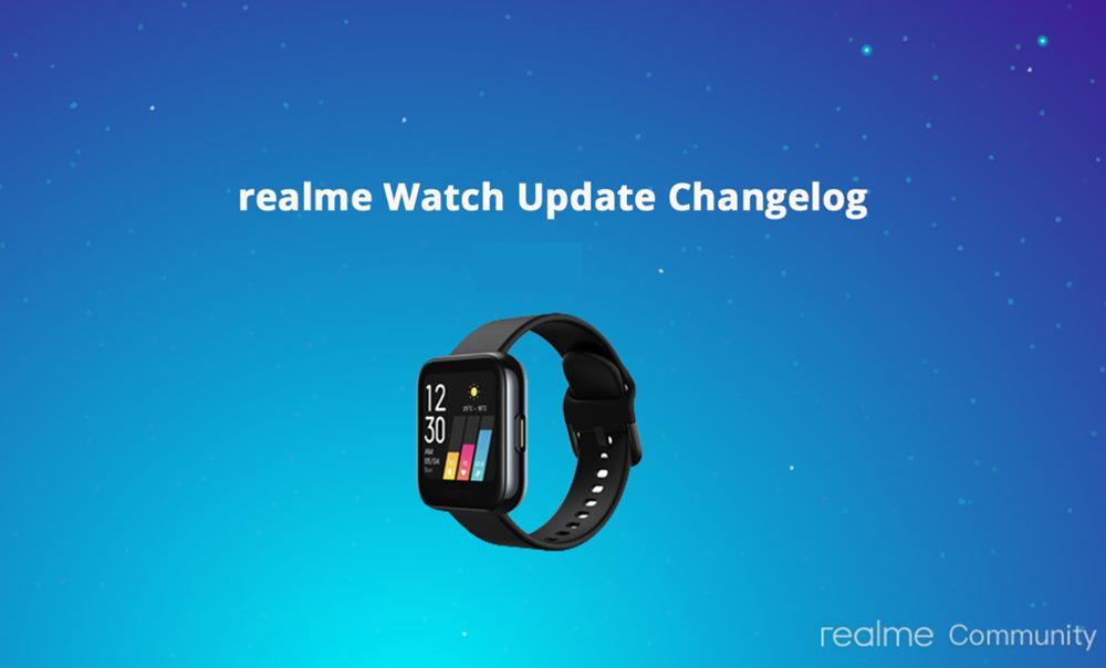 realme watch software update