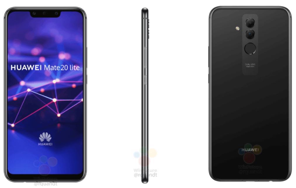 Renders oficiales de Huawei Mate 20 Lite