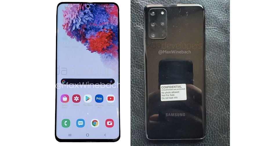 Samsung Galaxy S20 + 5G Live Image Surfaced;  Confirma con Renders