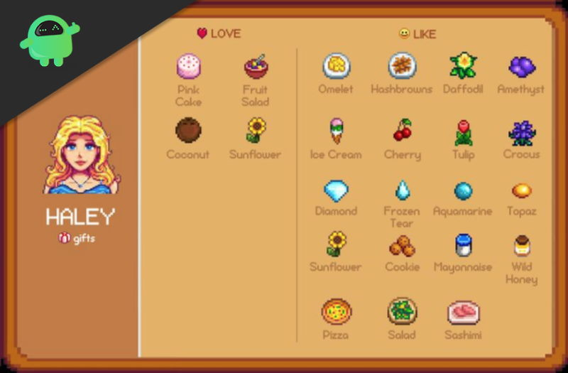 Stardew Valley List of Gifts Each Villager Likes and Loves