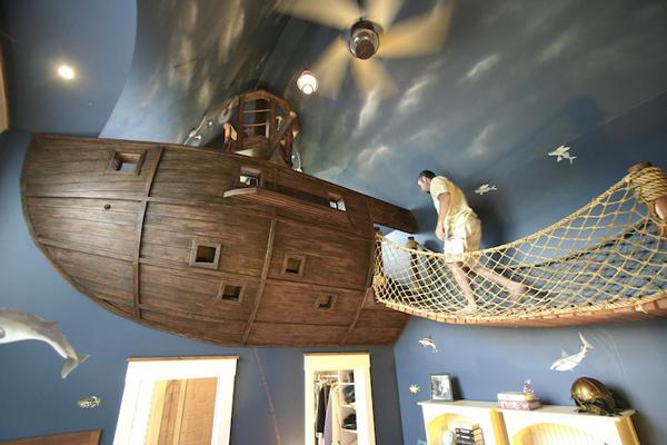 dormitorio de barco pirata