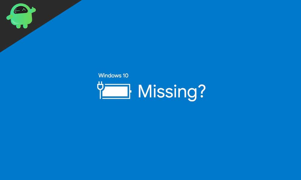 A Guide to Restore a Missing Battery Icon on Windows 10