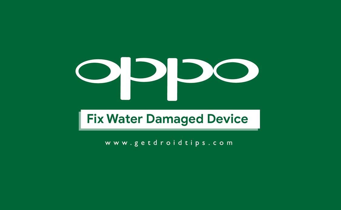 Una guía rápida para reparar el teléfono inteligente OPPO dañado por el agua.