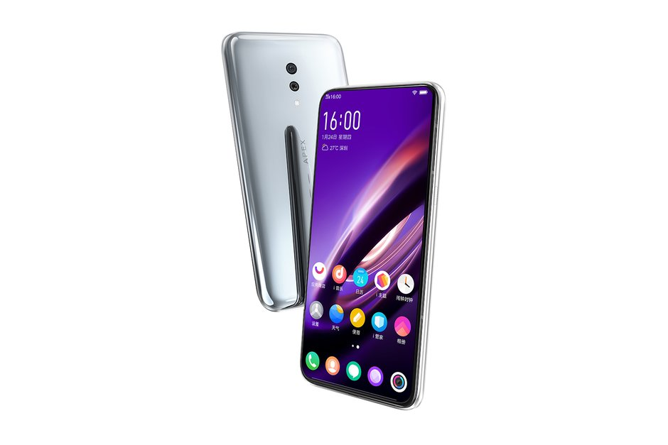 Vivo brings forth their first 5G phone APEX 2019 with full display fingerprint and no ports and Snapdragon 855