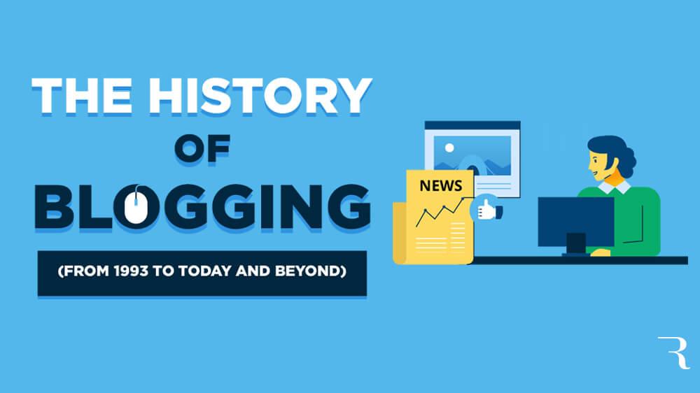 Historia de los blogs Descripción del viaje Infografía optimizada