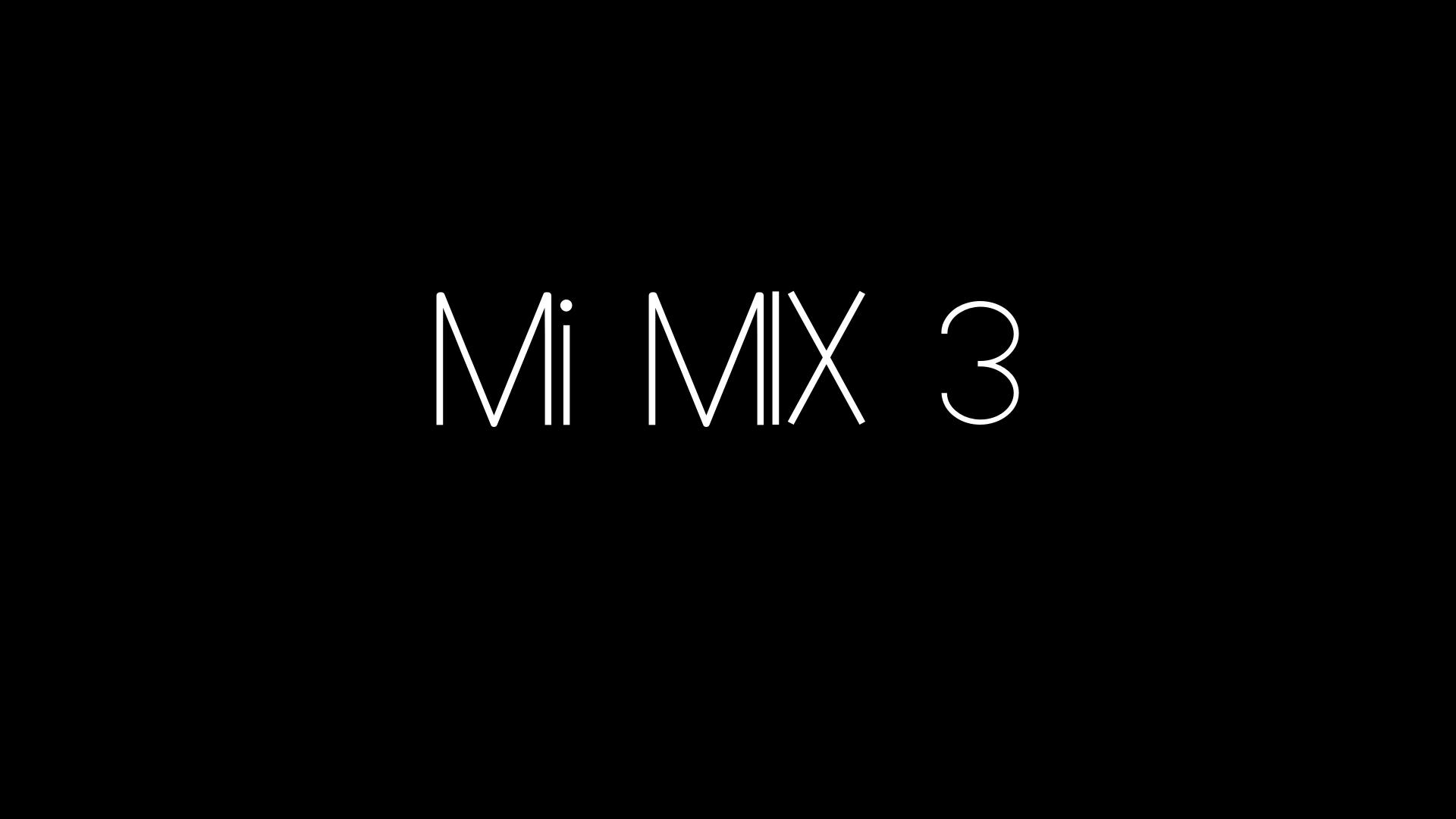 XIaomi Mi Mix 3 se oficializa el 25 de octubre
