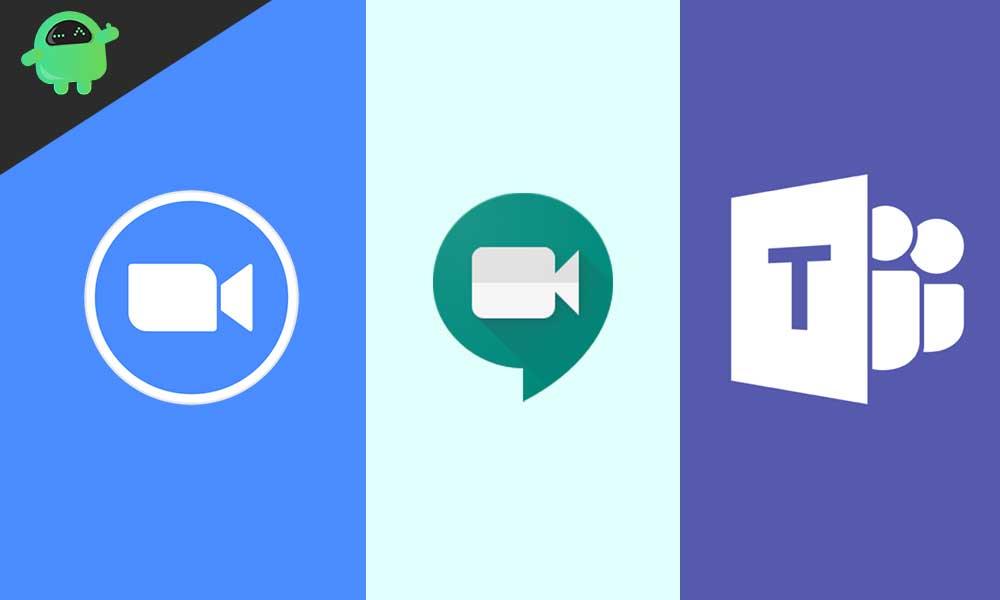 Zoom vs. Microsoft Teams vs. Google Meet