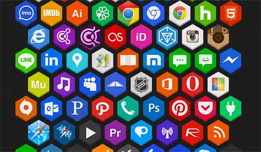 Sada ikon Martz90 Hexagon Icon Pack
