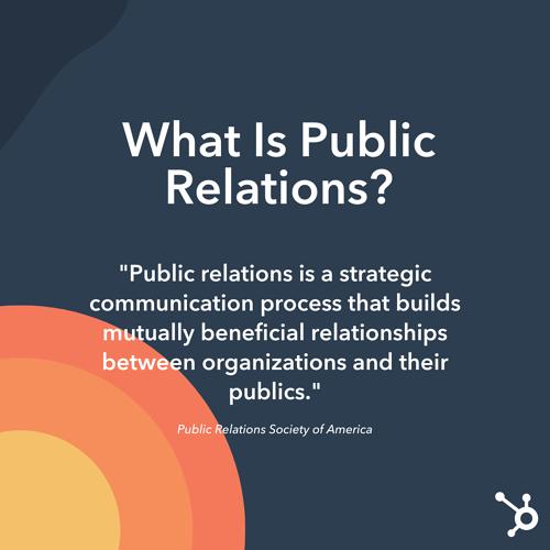 ¿Qué son las relaciones públicas?  Definición oficial de PRSA