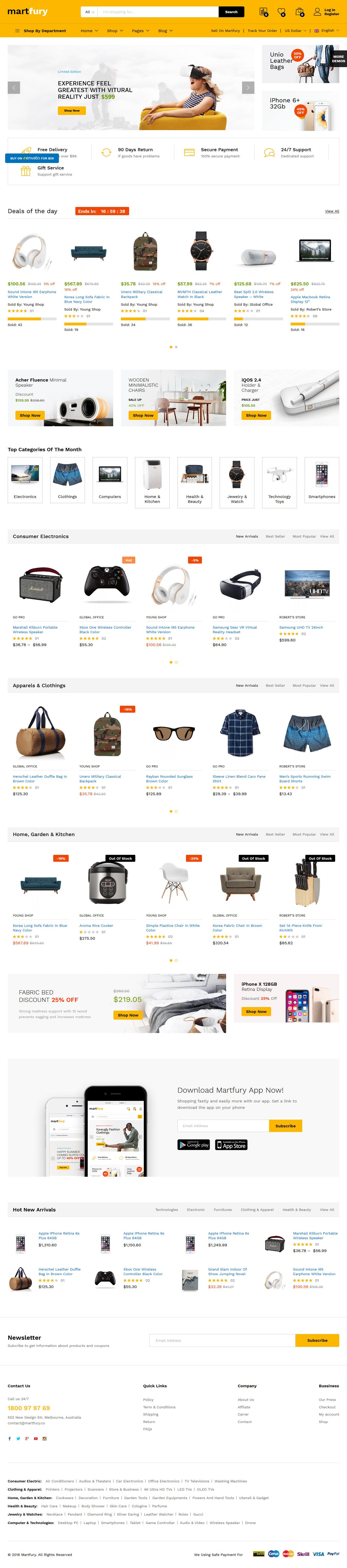 Martfury - Mejor tema de WordPress de Marketplace Premium