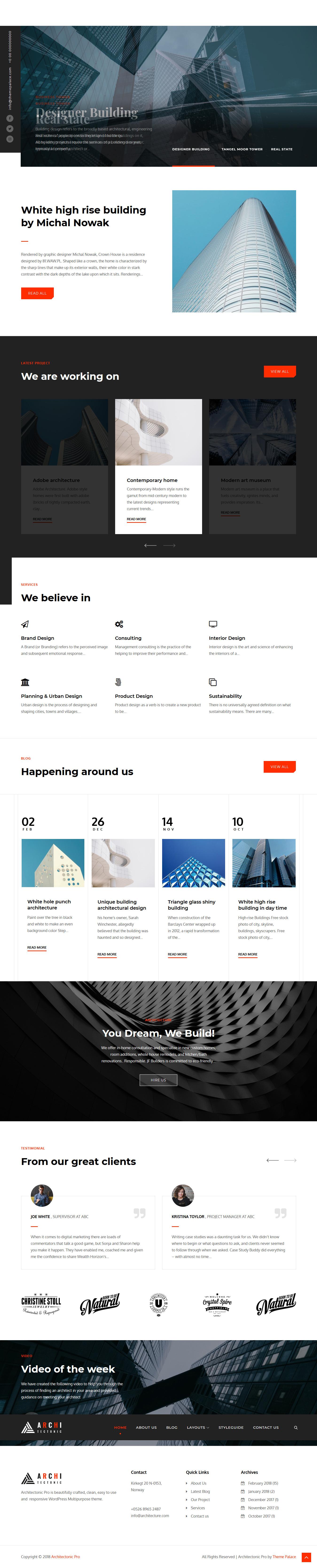 Architectonic: el mejor tema gratuito de WordPress para arquitectura