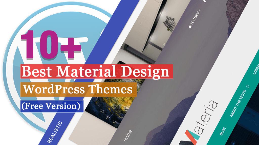 Los mejores temas de WordPress de diseño de materiales gratuitos