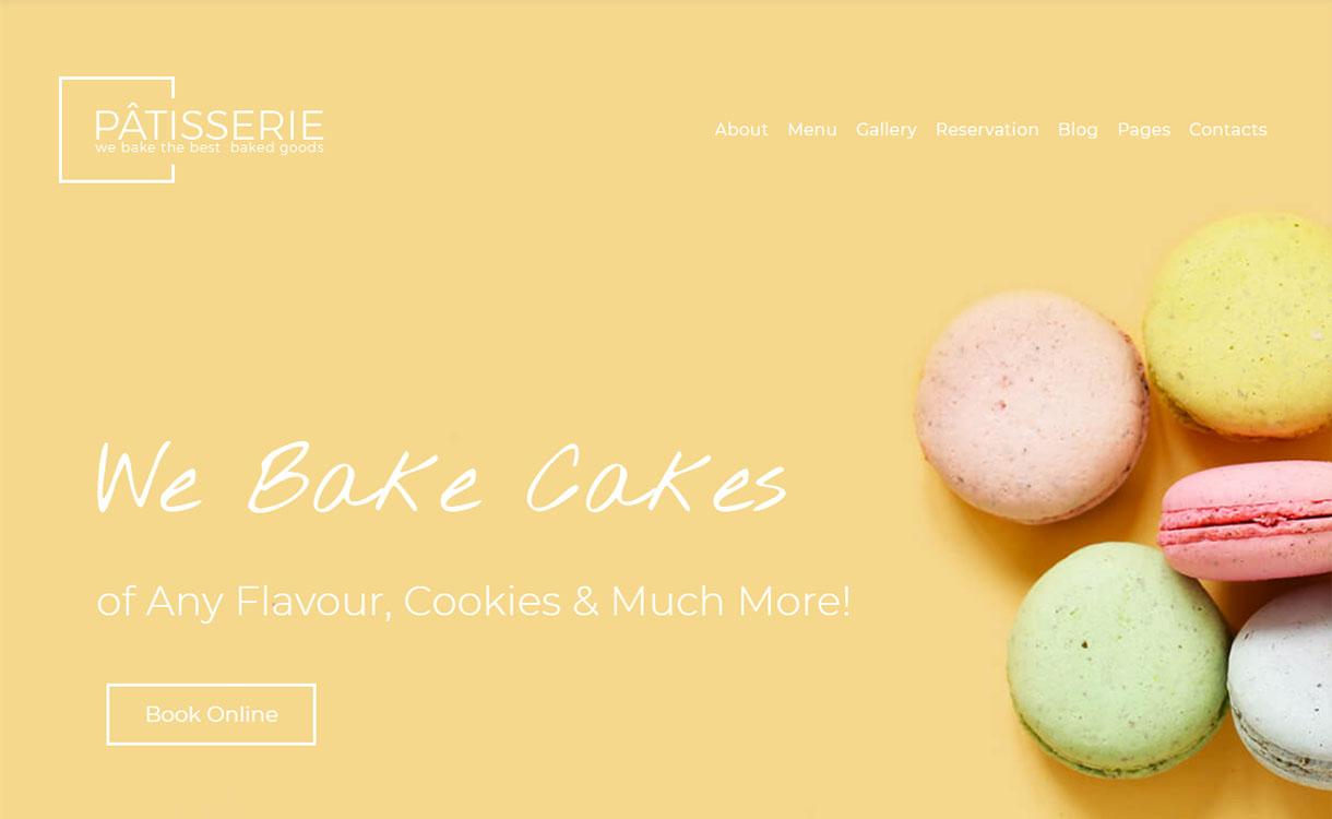 pastelería-mejor-restaurante-comida-tema-wordpress