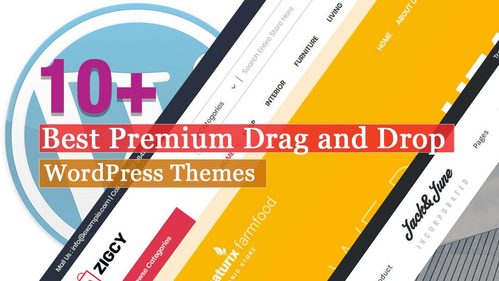 Los mejores temas premium de WordPress para arrastrar y soltar