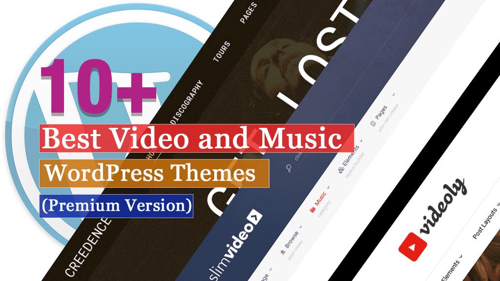 Los mejores temas premium de WordPress para videos y música