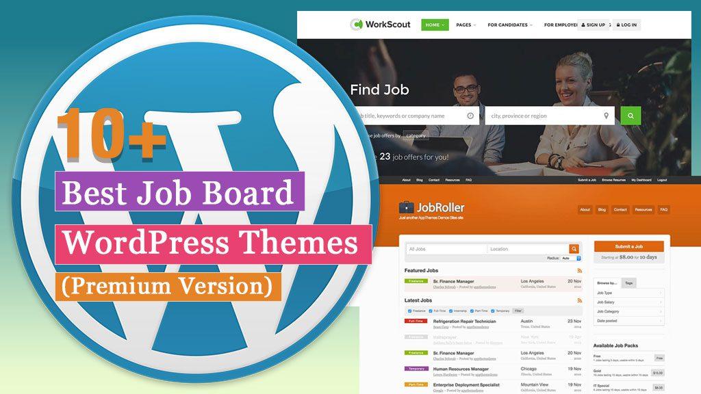 10+ mejores temas de WordPress para bolsa de trabajo