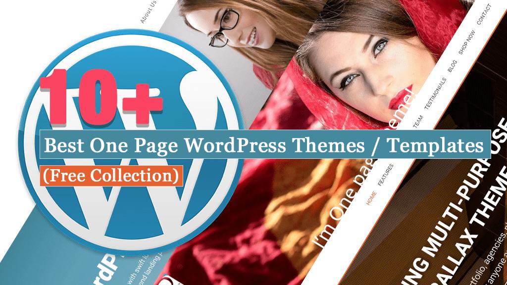 Colección gratuita de mejores temas y plantillas de WordPress de una página