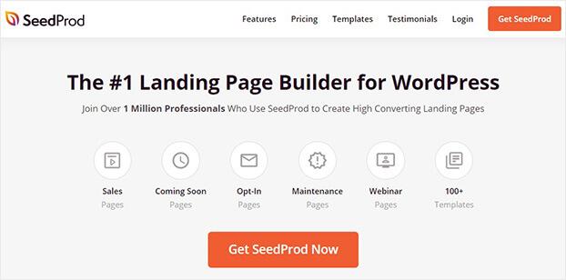 Inicio del generador de páginas de destino de SeedProd_