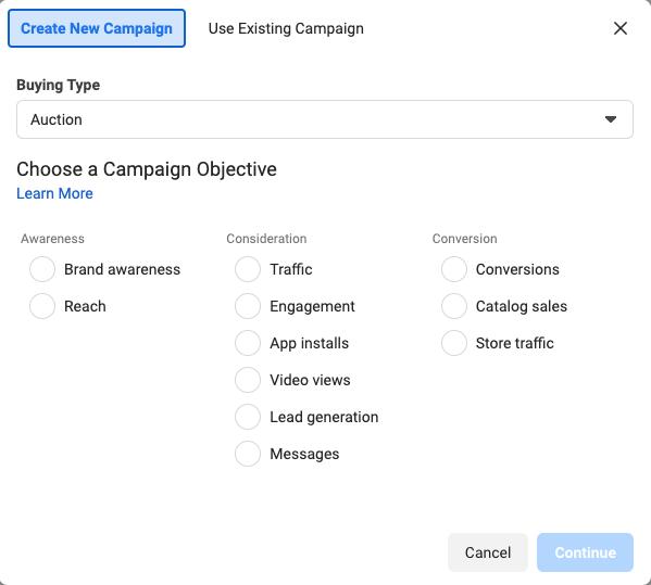 objetivo de la campaña