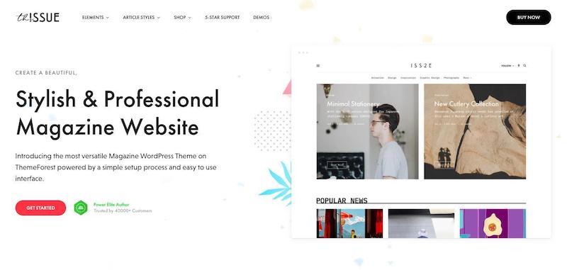 The Issue Versatile Magazine Tema de WordPress