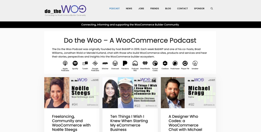 Hacer el podcast de Woo