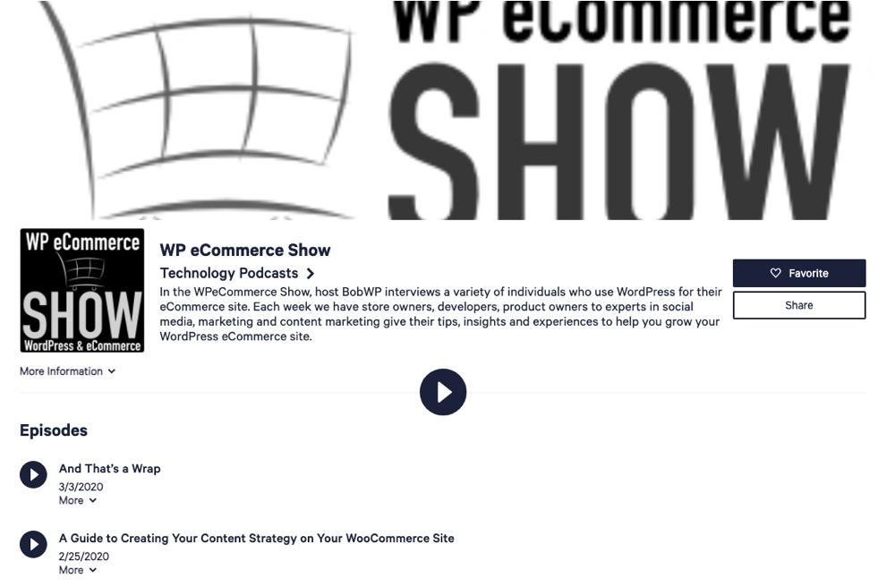 Show de comercio electrónico de WP