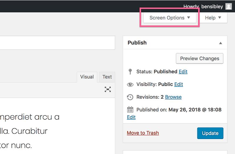 Ficha Opciones de pantalla