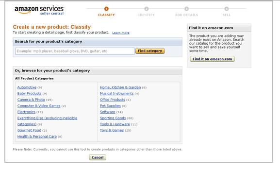 vendiendo en la imagen de listado de productos de Amazon