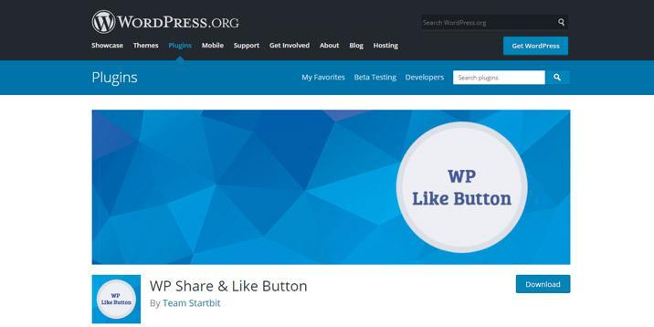 Botón WP Compartir y Me gusta