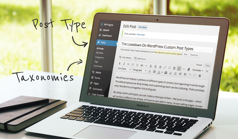 Taxonomías y tipos de publicaciones de WordPress