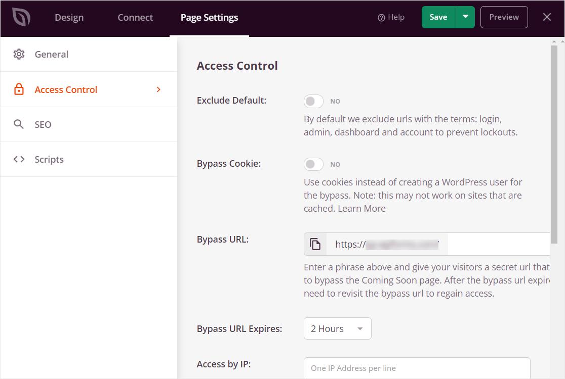 controles de acceso con seedprod pro
