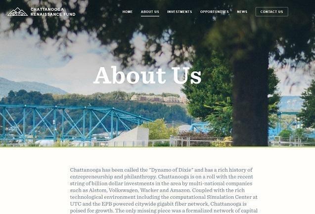 Página Acerca de nosotros de Chattanooga Renaissance Fund