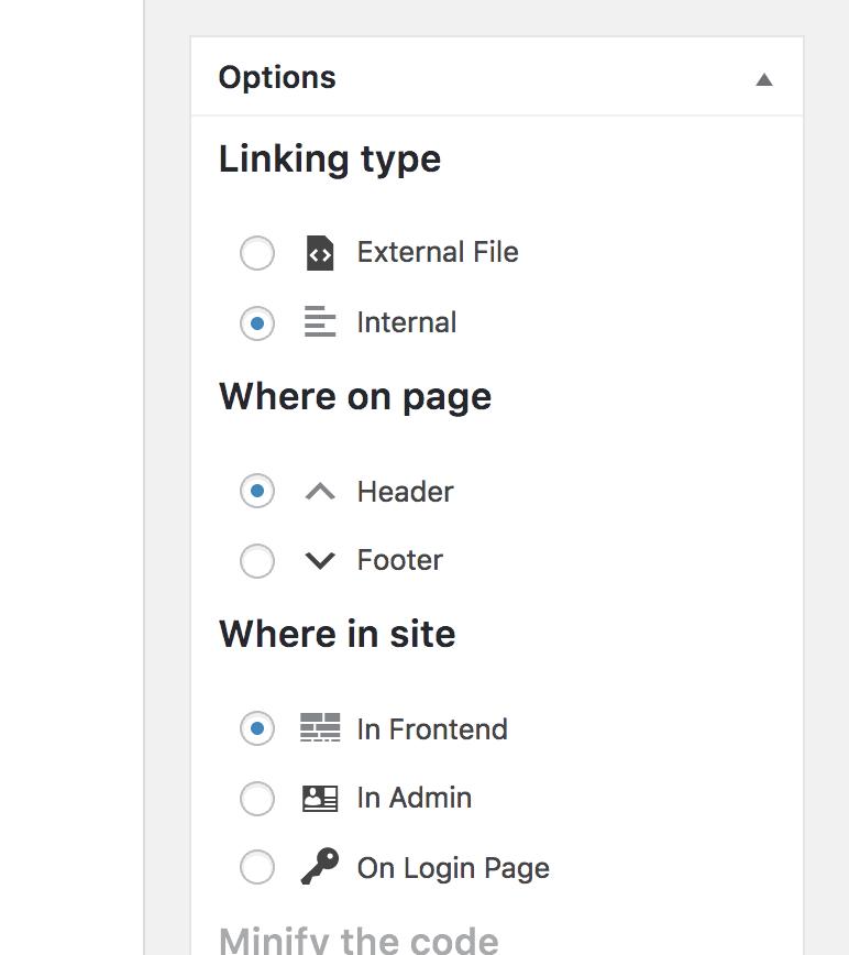 Opciones simples de CSS y JS