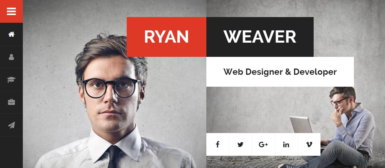 Divergente - Mejor tema premium para currículum vitae de WordPress