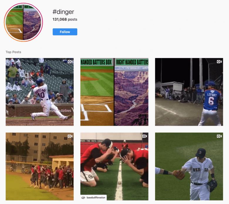 #Dinger Hashtag Captura de pantalla